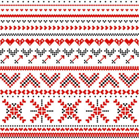 expanding: Pattern with scandinavian expanding hearts