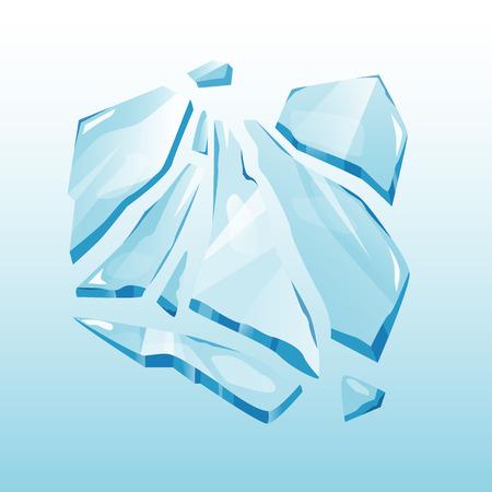 Geïsoleerde ijskap sneeuwbank en ijspegel element winter decor vector. Sneeuwelement op blauwe achtergrond. IJs in cartoon-stijl voor uw ontwerp