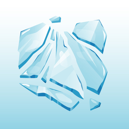 splinter: Isolated ice cap snowdrift and icicle element winter decor vector. Snowy element on blue background. Ice in cartoon style for your design Illustration