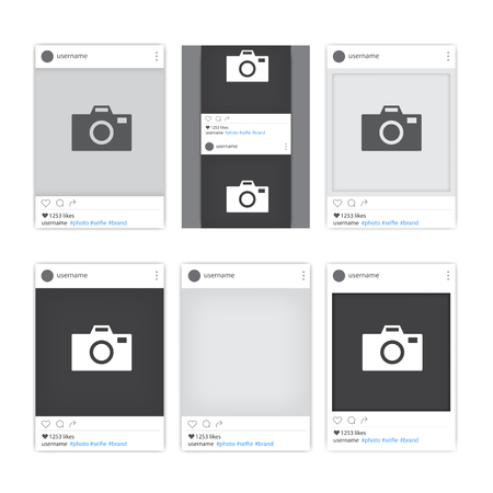 Set Of Different Social Network Photo Frames. Tepmlates Of Photo ...