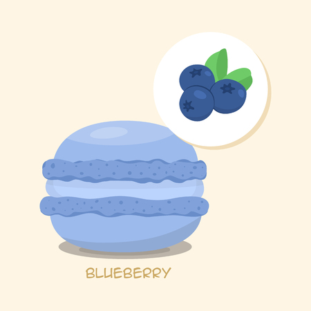 Blueberry pastry icon. Illustration