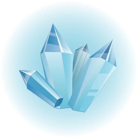 Blue gemstones icon. Illustration