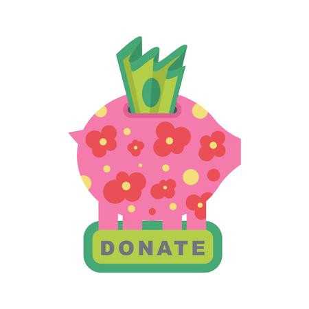 Donate banner. Illustration
