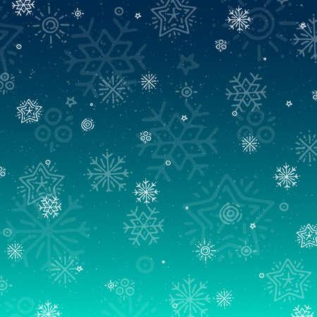 New Year Christmas background with snowflakes image Illusztráció