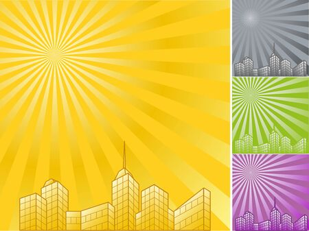 Skyscrapers in the background of the beautiful Stock Vector - 15579610