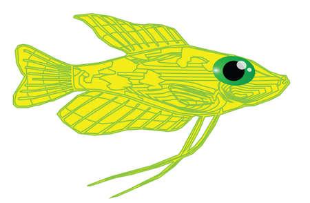 bloat: Yellow fish cartoon posing