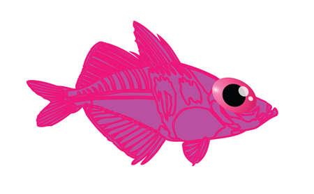 bloat: pink fish cartoon posing