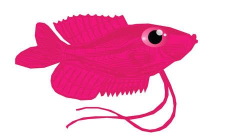 bloat: Cute pink fish cartoon