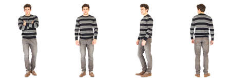 pullover: bright picture of handsome man in pullover Stock Photo
