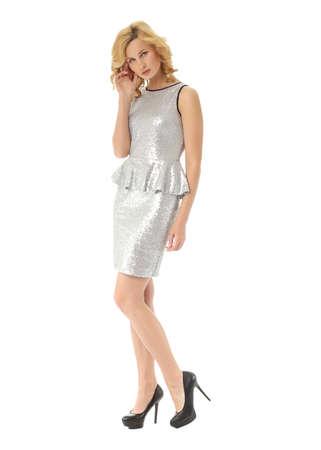 Fashion model wearing glamur mini dress