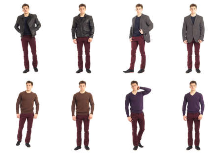 cool guy: Casual clothing concept - same man in different style clothes