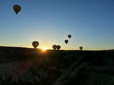 Spring sunrise in Cappadocia