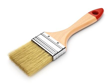 reconditioning: Paintbrush isolated on white background Stock Photo