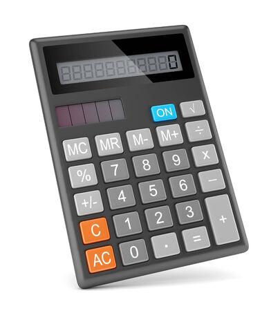 Electronic calculator isolated on white background photo