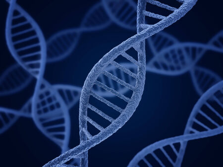 medical technology: DNA molecule. Biology, science and medical technology concept.