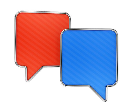 tweet balloon: Colorful speech bubbles isolated on white background