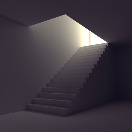 basement: Stairway from basement upstairs to heaven in the light
