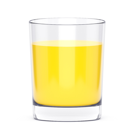alcohol screwdriver: Orange juice or screw driver cocktail in glass isolated on white background