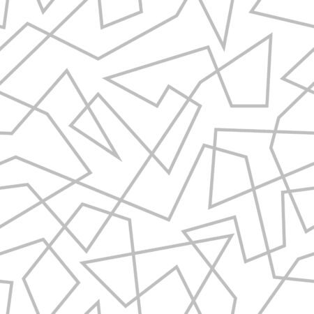 Abstract geometric pattern with random chaotic lines. Seamless monochrome vector texture.
