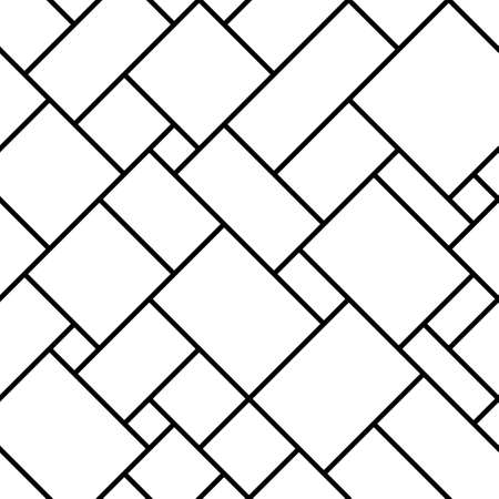 Abstract seamless geometric monochrome diagonal pattern. Vector floor texture background.