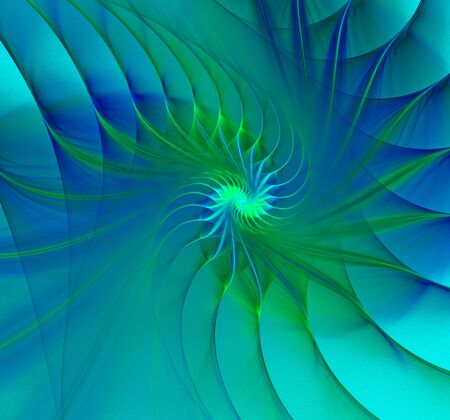 nautilus shell: Great spiral shell abstract fractal black background