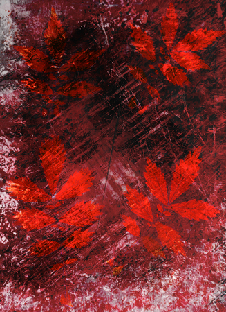 smirch: Abstract watercolor background handmade leaves. Stock Photo