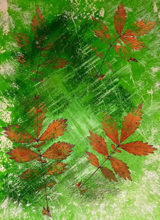 fleck: Abstract watercolor background handmade leaves. Stock Photo