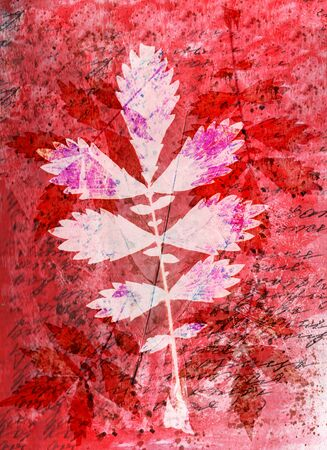 slur: Abstract watercolor background handmade leaves. Stock Photo