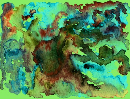 textural: Watercolor abstract textural background handmade. Crumpled paper, leaves, spray