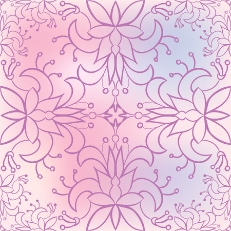 neutral background: Seamless floral pattern - Abstract neutral background - Nature, plants, leaves, flowers Illustration
