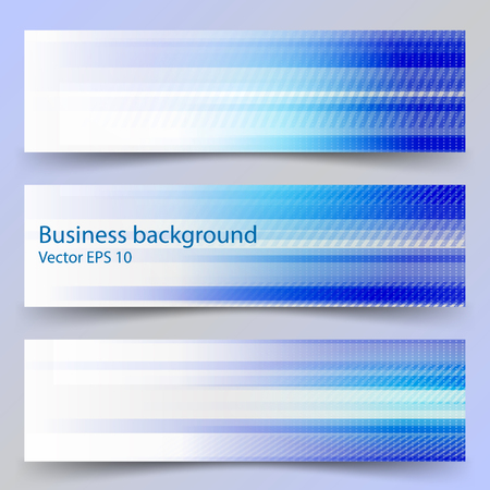 cyan business: Concept business background. Horizontal stripes. Blue and cyan. Set of 3 banners