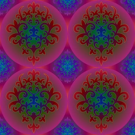 symmetry: Seamless symmetry background pattern. Arabic floral motifs.