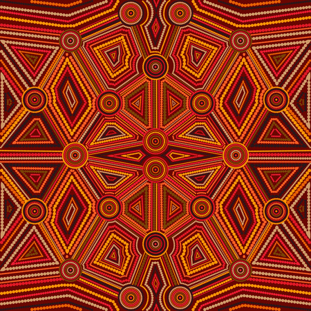 aboriginal art: Abstract style of Australian Aboriginal art. Vector geometric background pattern. Ethnic style.