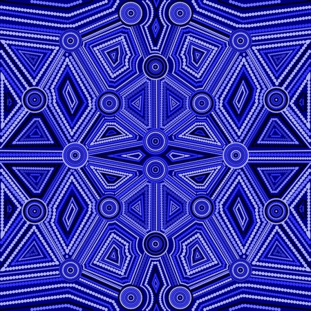 aboriginal: Abstract style of Australian Aboriginal art. Geometric background pattern. Ethnic style.