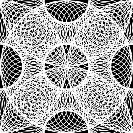 optical image: Geometric background pattern of circles, rings. Optical illusion, volumetric image