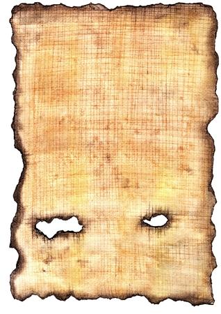 古代エジプトのパピルス。擬似テクスチャ。ムラ焼けエッジ。グランジ背景