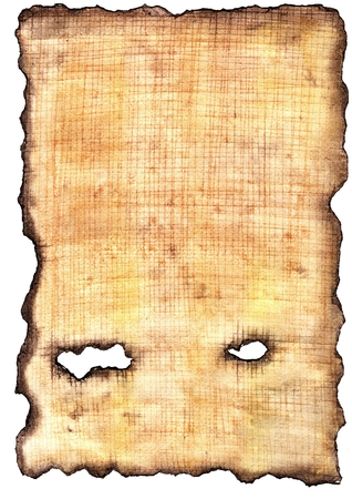 Ancient Egyptian papyrus. Simulated texture. Uneven burnt edges. Grunge background