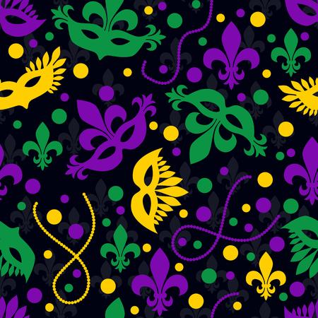 Mardi gras concept seamless pattern