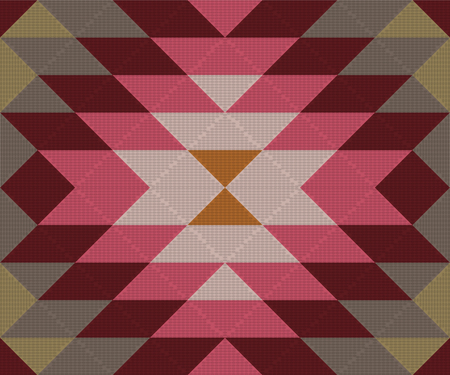 Etnisch geometrisch ornament. Kelim, Turks, Azteeks geweven vloerkleed. Naadloos vectorpatroon Stock Illustratie