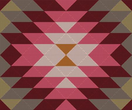 Ethnic geometric ornament. Kilim, Turkish, Aztec woven rug. Seamless vector pattern