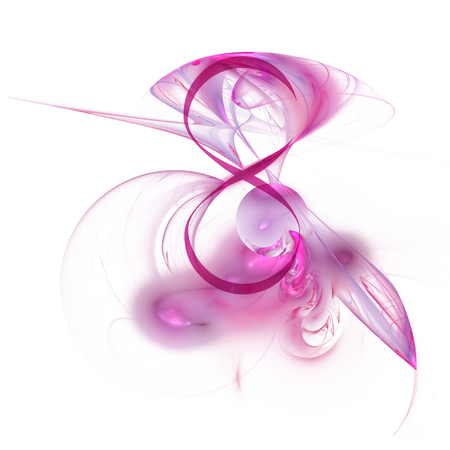 Fractal abstraction and figure 8. International Womens Day. On a white background