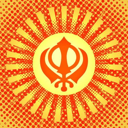 Celebration Holiday Baisakhi New Year Of The Sikhs Khanda Sikh