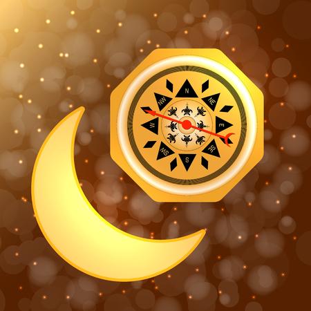 Ramadan Kareem. Concept of a Islamic holiday. Illustration