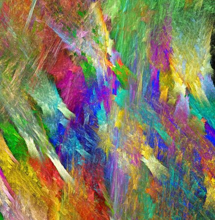 Rainbow crystal texture. Bright multicolored textural background. Fractal abstraction.