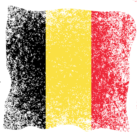 Belgian National Day.  National holiday concept. Flag of Belgium. Grunge texture