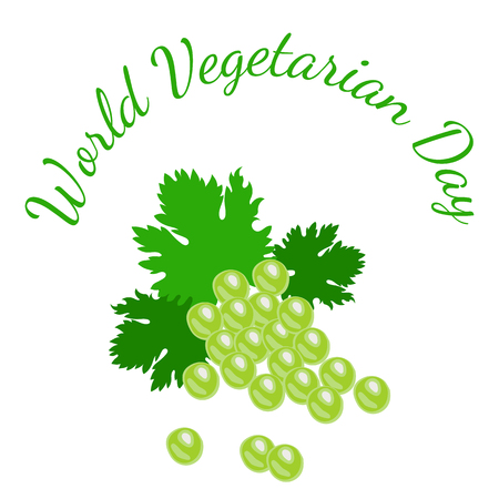 World Vegetarian Day. Food event concept. Fruit - grapes