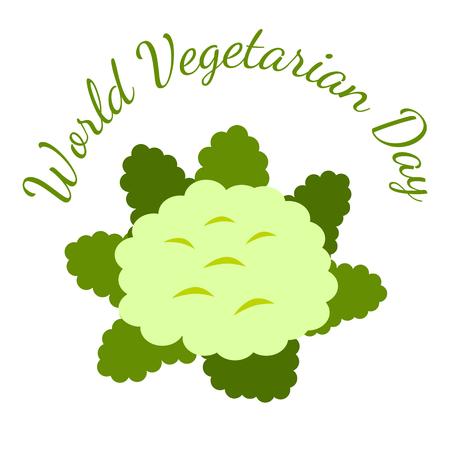 World Vegetarian Day. Food event concept. Vegetables - Cauliflower