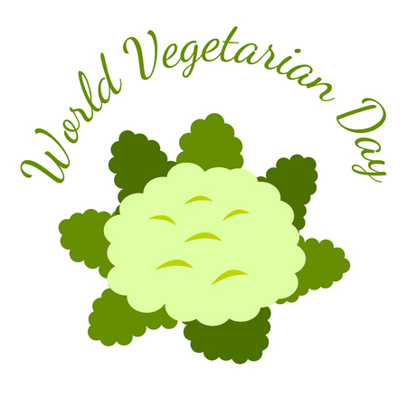 World Vegetarian Day. Food event concept. Vegetables - Cauliflower