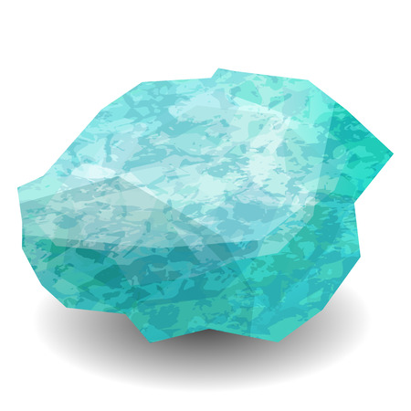 Aquamarine. Precious stone, gemstone, mineral. Translucent raw piece of stone. Texture of layers and facets of stone. Geology mining science jewelry background