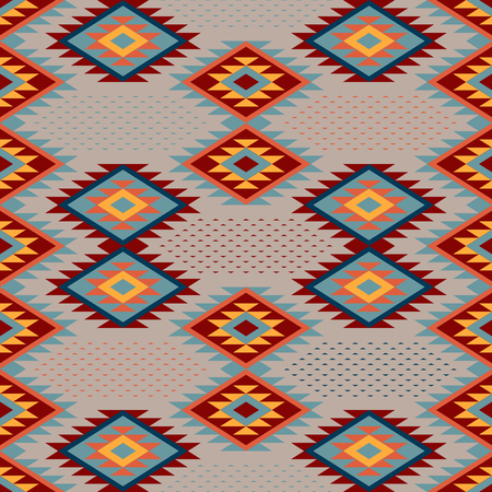 Kilim. Ethnic ornament. Pattern of bright rhombuses. Seamless vector pattern